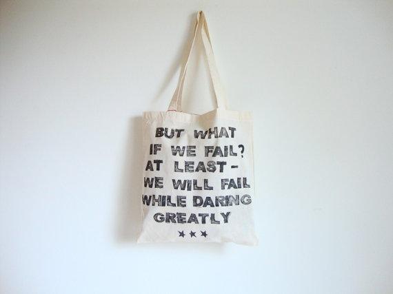 daring greatly 3 Ptice tote bag