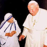 Madre Teresa y S.S. Juan Pablo II