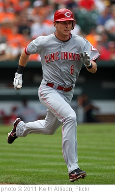 'Cincinnati Reds center fielder Drew Stubbs (6)' photo (c) 2011, Keith Allison - license: http://creativecommons.org/licenses/by-sa/2.0/