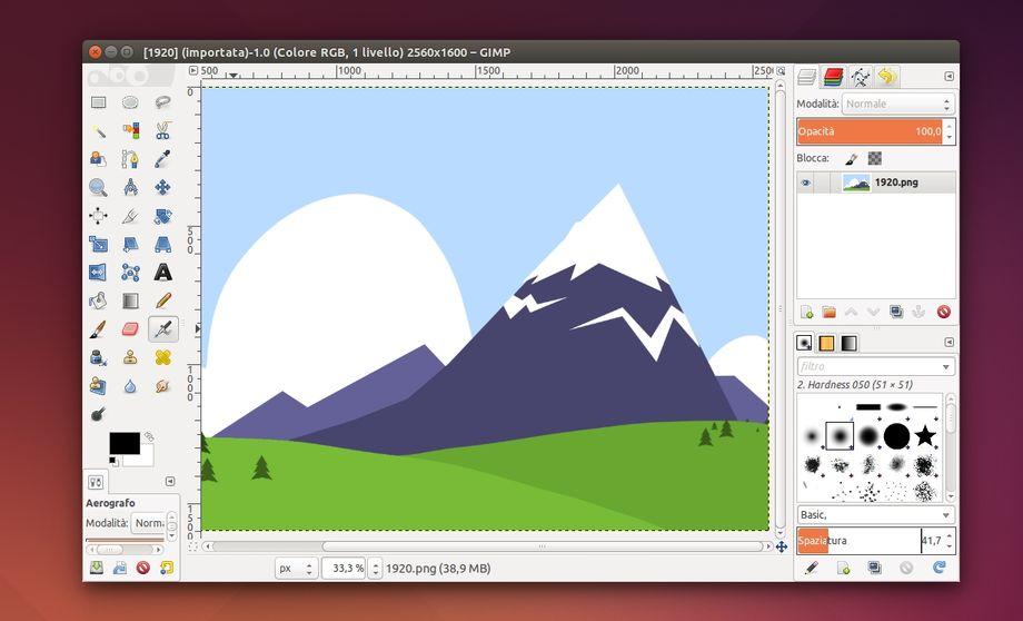 GIMP in Ubuntu Linux