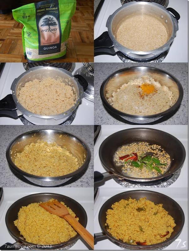 Quinoa puliyodharai process
