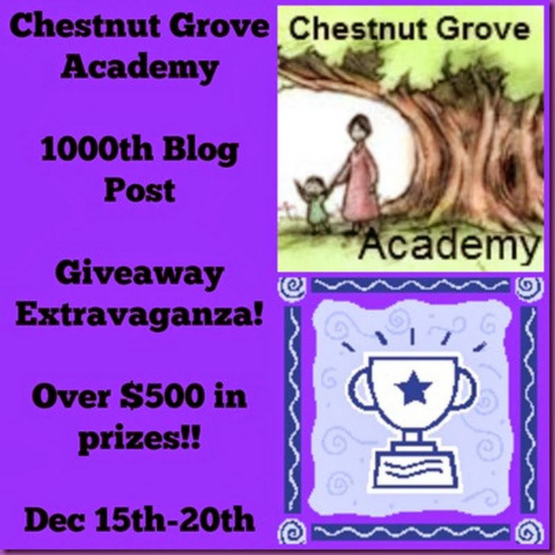 Giveaway From Chestnut Grove Academy: Great Prizes!