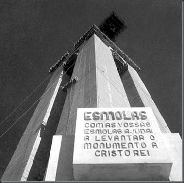 Resultado de imagem para construção cristo rei portugal