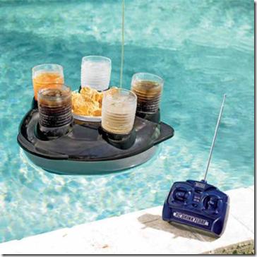 Design Bandeja com controle remoto para piscina