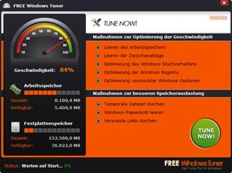 Speed Up Windows 8 with Windows Tuner