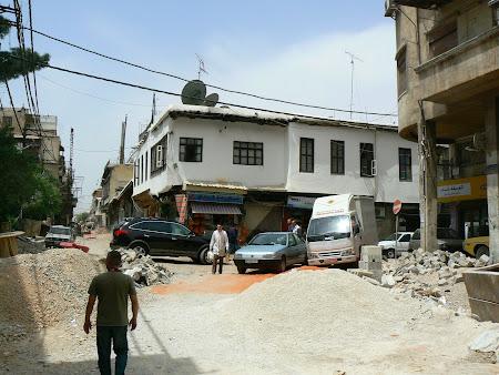 Strazi istorice in Siria: strada dreapta din Damasc