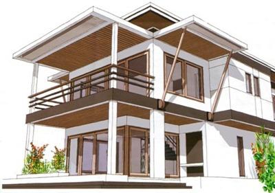 Desain gambar rumah tampak depan