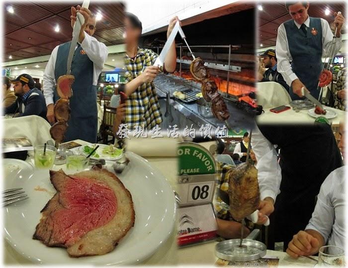巴西窯烤OK-Grill。來到巴西,怎能不嚐嚐這裏的道地烤肉,巴西的燒烤(BBQ)可是非常有名,而且是外地來的遊客絕不能錯過的美食,有機會來巴西的朋友一定要嚐嚐道地的巴西燒烤,只是這裡的燒烤大部分是「牛肉」,這次沒有看到「豬肉」及「羊肉」,倒是有「雞肉」,而且還有「雞心」,你沒看看錯巴西人也喜歡吃雞心,另外還有考鳳梨、蘋果、梨子的。