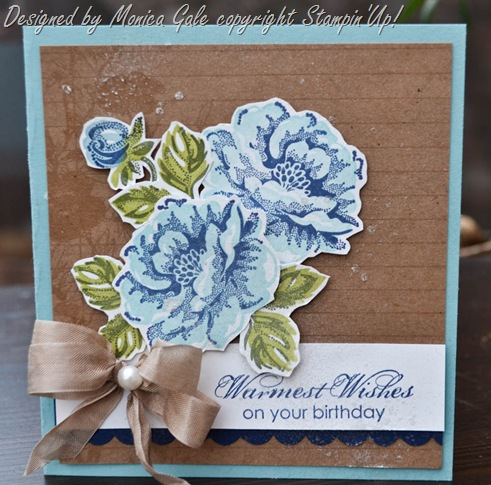 stampin'Up! Stippled Blossoms with Monica Gale, check her blog for more ideas_