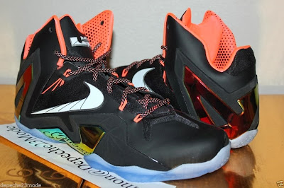 nike lebron 11 ps elite black mango 1 02 Closer Look at LeBron 11 PS Elite Mango That Drops in June