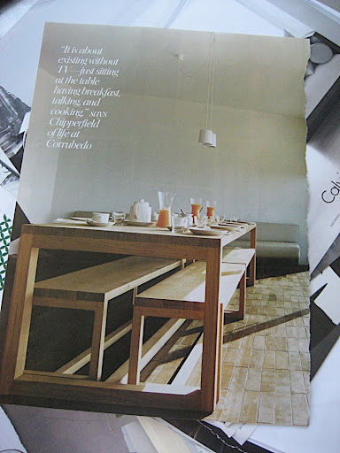 I loved the simplicity of this dining room.