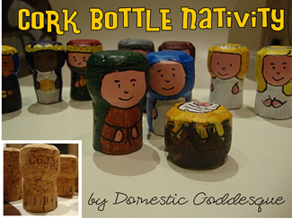 cork bottle nativity
