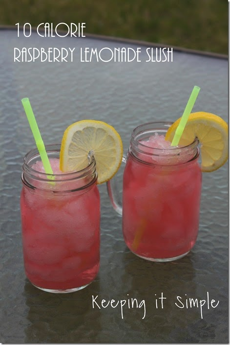 low-calorie-summer-treats #flavorforless raspberry-lemonade-slush