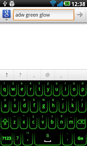 Green Glow Keyboard Skin 緑