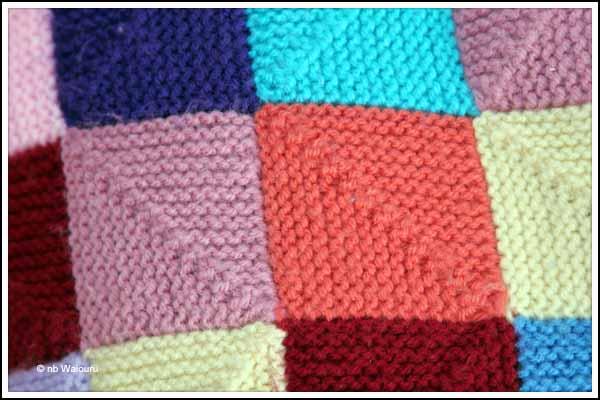Knitted Squares Pattern : Waiouru: Knitting Blankets