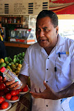 Super Guide Solomon Discussing the Health Benefits of Coconut Oil - Port Denarau, Fiji