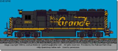 DRGW GP-40 3051