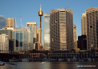 Blick von Darling Harbour auf den Business District