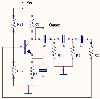 Sine Wave Generator circuit diagram