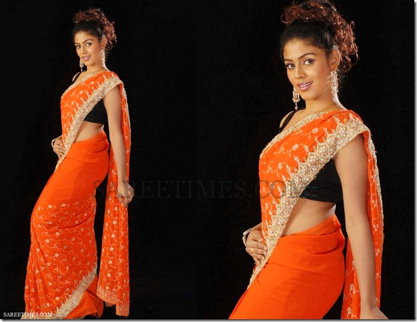 Iniya_Orange_Saree