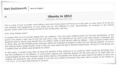 Il 2013 di Ubuntu secondo Mark Shuttleworth