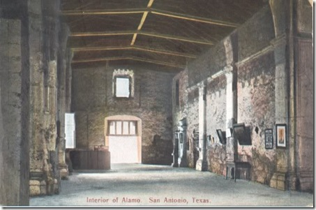 Old shot from the inside of the Alamo