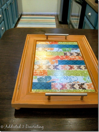 serving tray made from frame 4