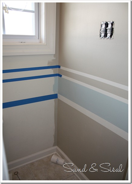 Bathroom Design Ideas With Stripes ~ Painting stripes made easy sand and sisal