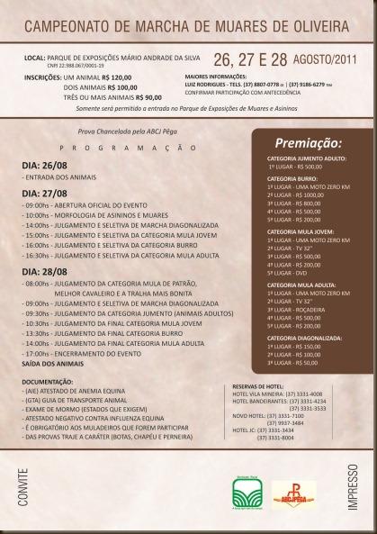 Convite  6º campeonato muares VERSO
