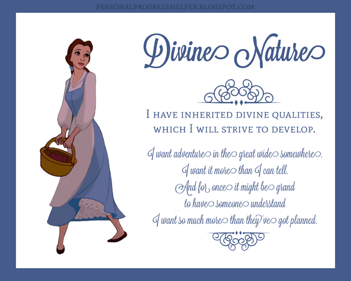 Young Women's Values with Disney Princesses: Divine Nature