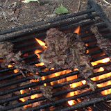 Beef enjoying a hot sear on the fire