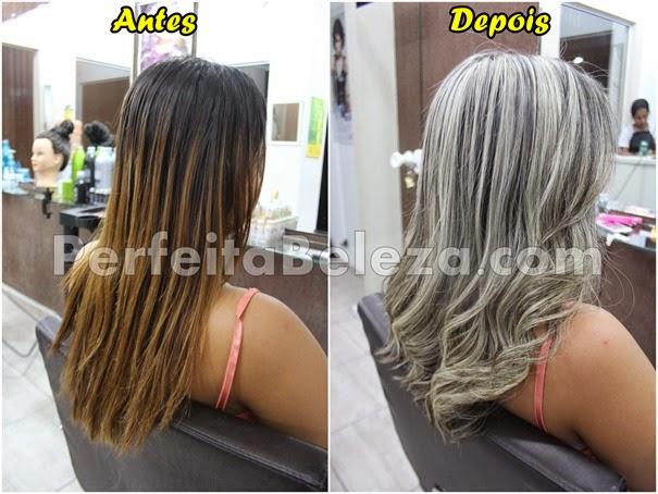 antes e depois de cabelos loiros