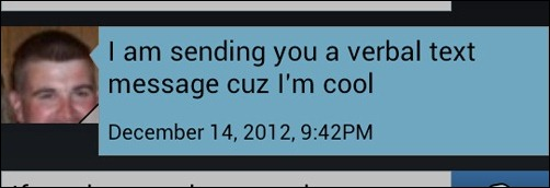 verbal text message