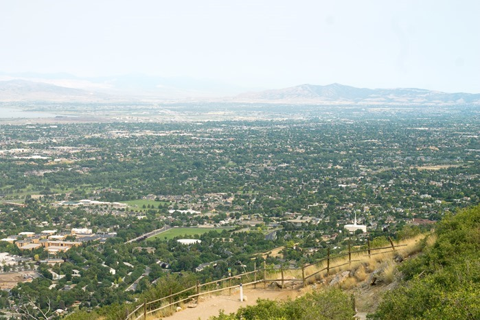 view of provo from y mountain