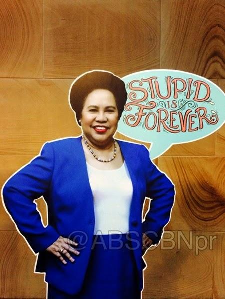 ABSCBNpr photo - Sen. Miriam Defensor Santiago's Stupid is Forever