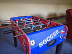 Fusball in games room