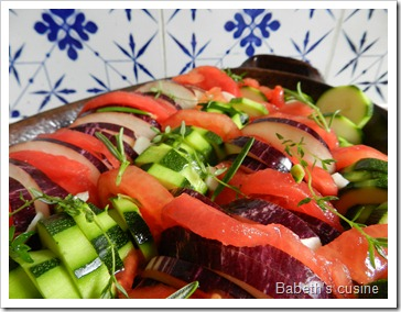 tian de légumes d'été