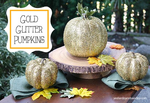 Gold-Glitter-Pumpkins