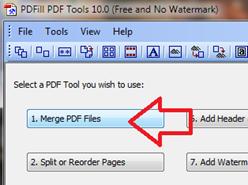 การรวมเอกสาร pdf เป็นไฟล์เดียว