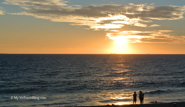 Stunning sunset at Cottesloe Beach, Perth