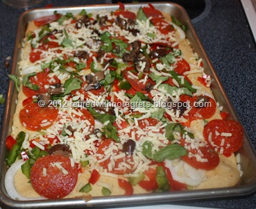 Easy Pizza - Gluten-Free   ready for oven