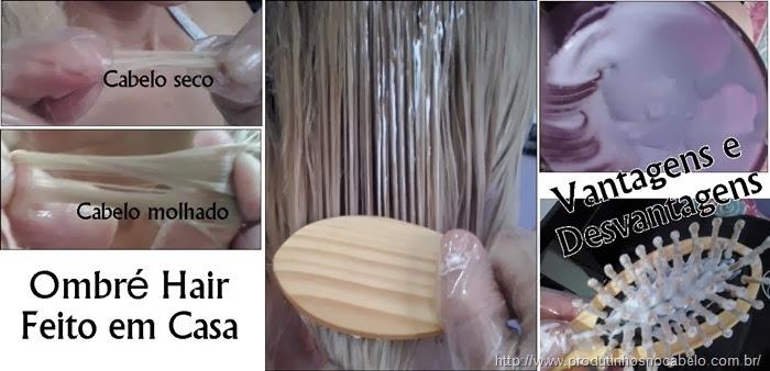 Ombré Hair em casa com escova, Vantagens e Desvantagens.