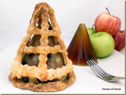 Apple pie-in-the-sky with apple cider jelly