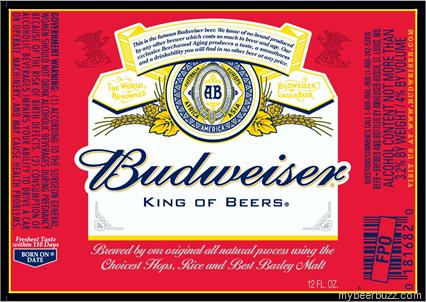 Budweiser Red Bottom Glass