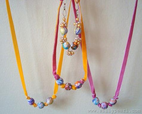 Decoupaged Kids Art Beads