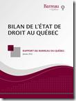 BILAN DE L'ÉTAT DE DROIT AU QUÉBEC
