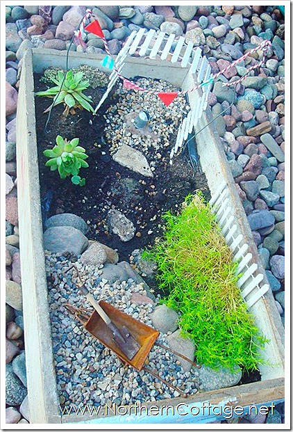 northern cottage mini garden with pennant