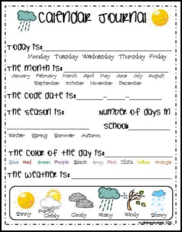 Awesome Collection of Calendar Worksheets Kindergarten For Resume ...