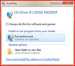 การใช้งาน edge modem