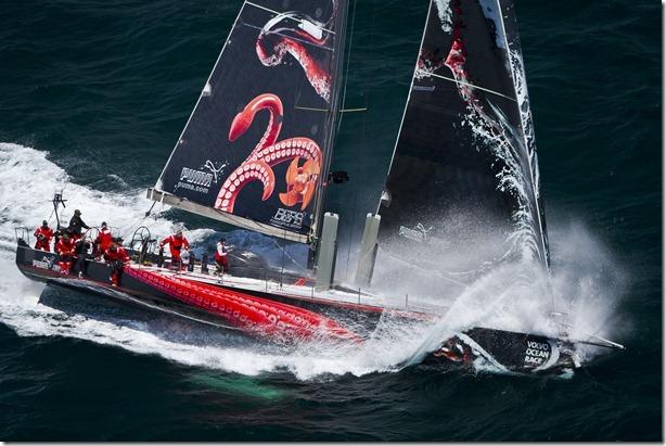 PUMA Ocean Racing powered by BERG Propulsion training onboard Mar Mostro off, Newport, Rhode Island.